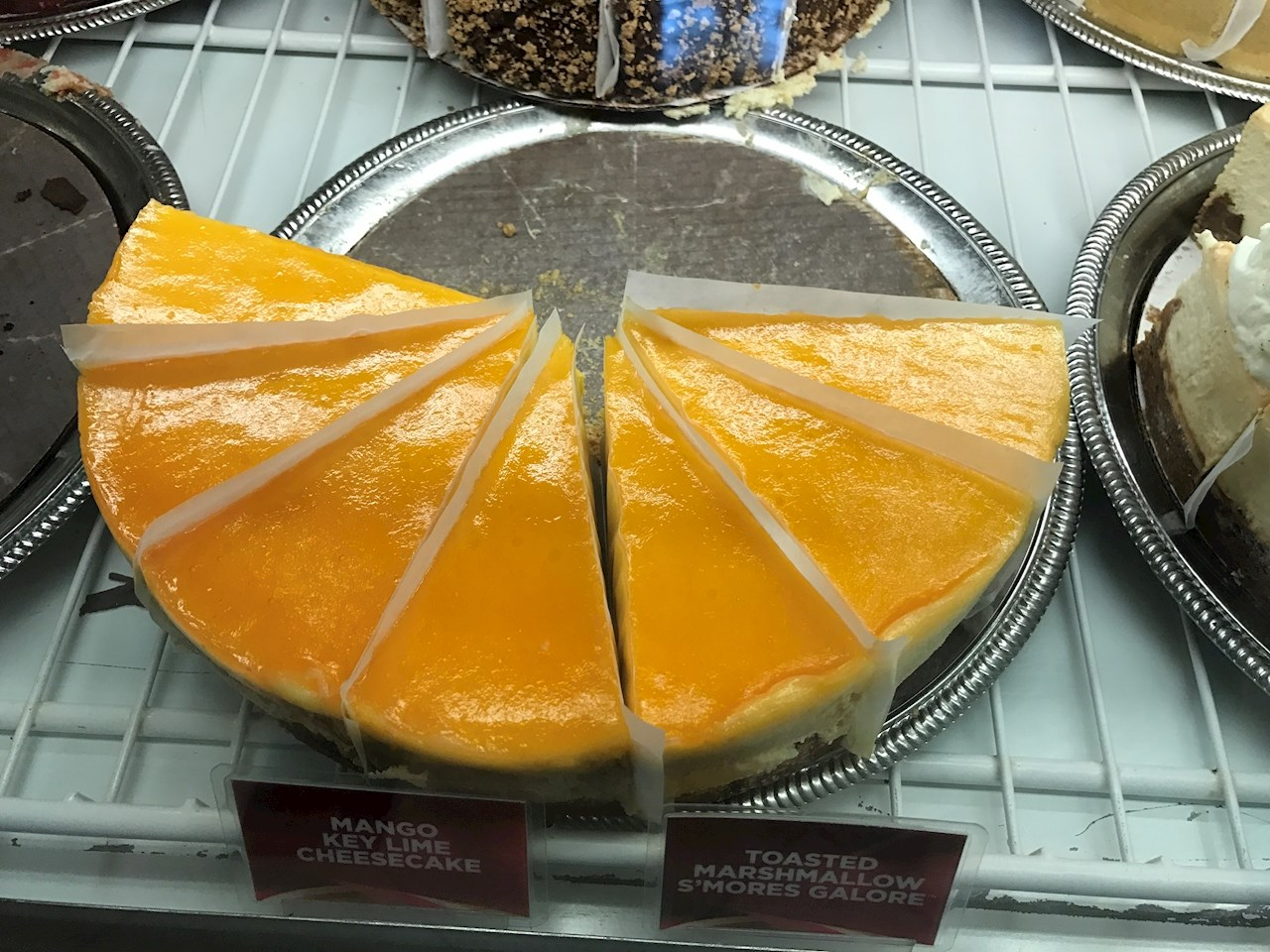 Key lime mango cheesecake at Cheescake Factory