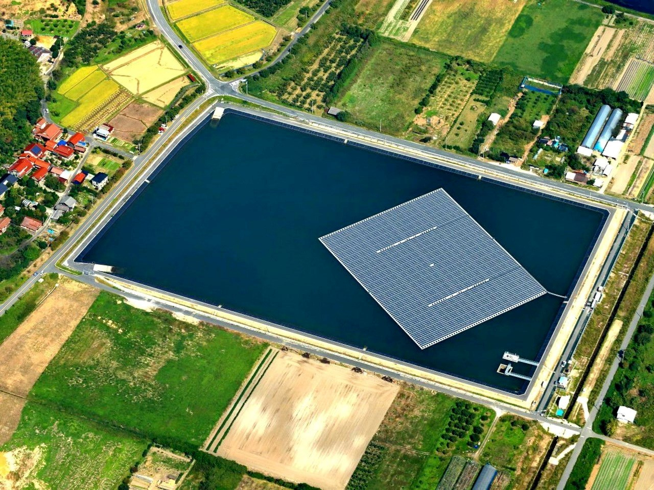 Unique patented floating solar solution by Ciel and Terre