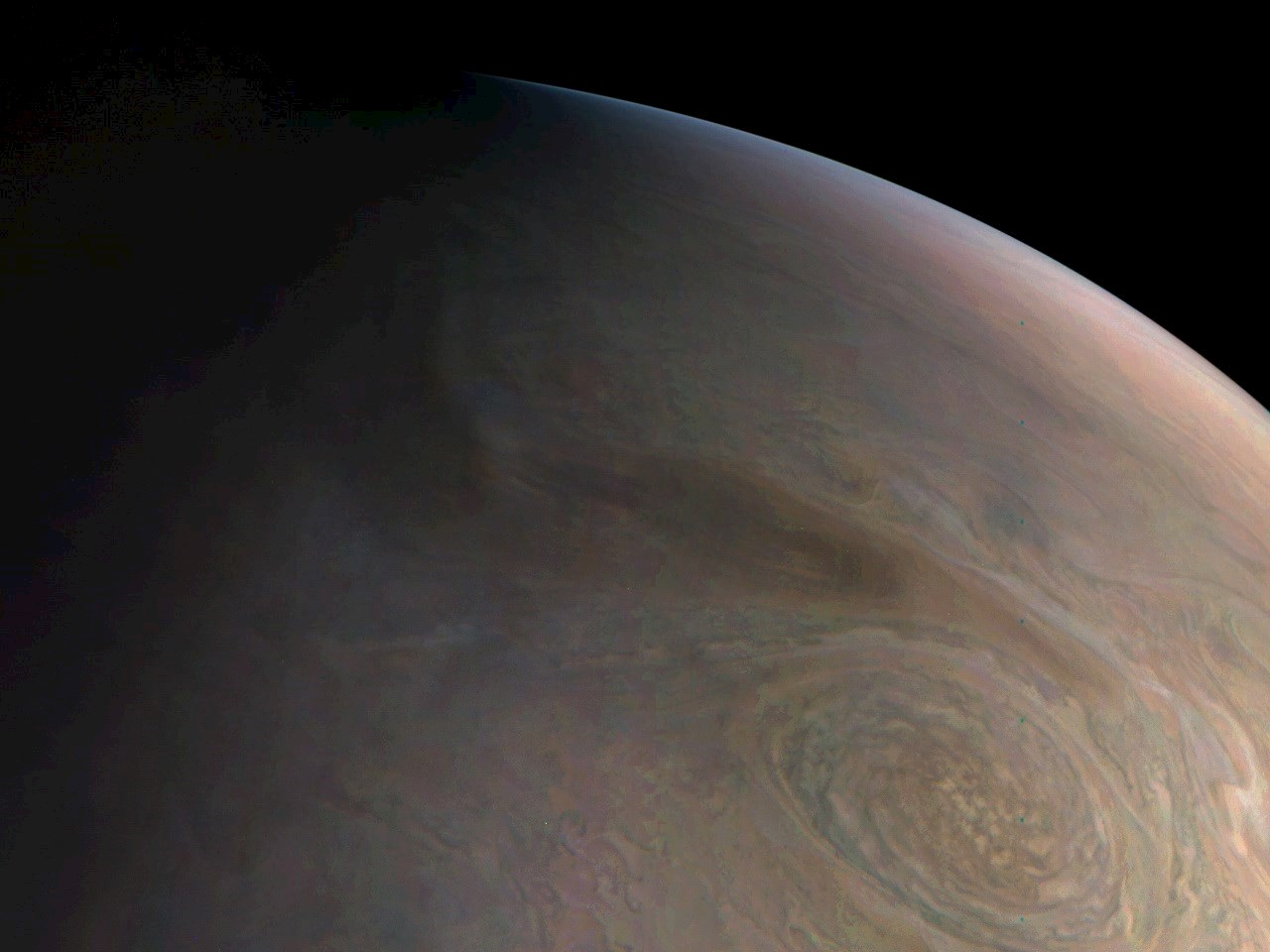 Juno's close look at Jupiter's little red spot (part 2)