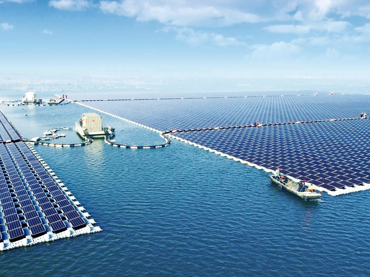 40 megawatt floating photovoltaic facility power plant