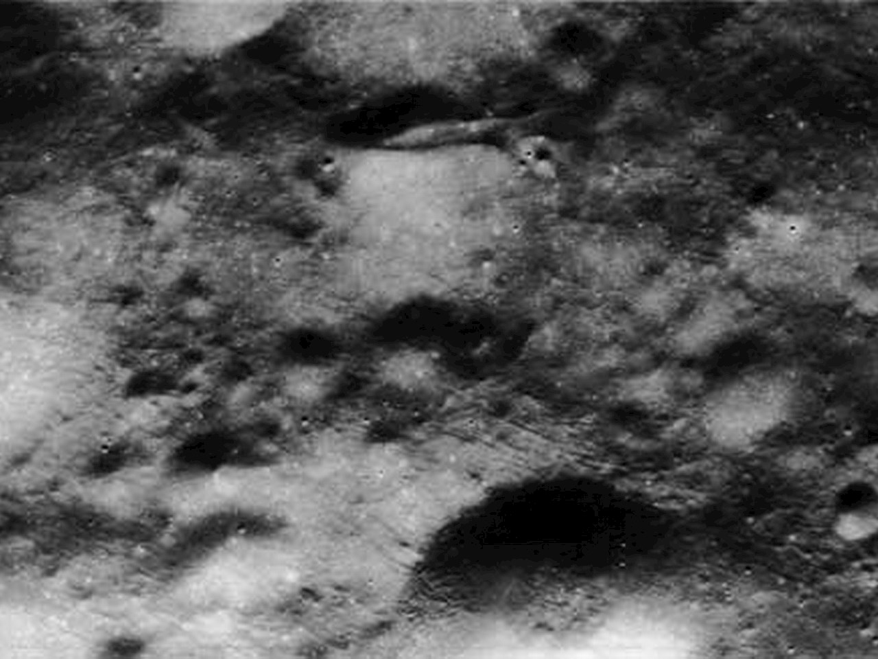 Closeup from the panoramic view of Apollo image atlas AS15-P-9630