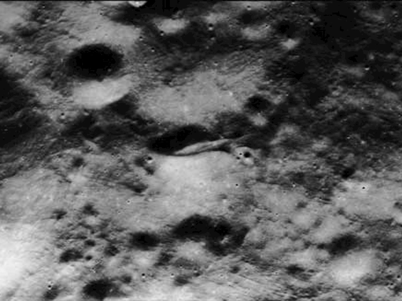 Closeup from the panoramic view of Apollo image atlas AS15-P-9625