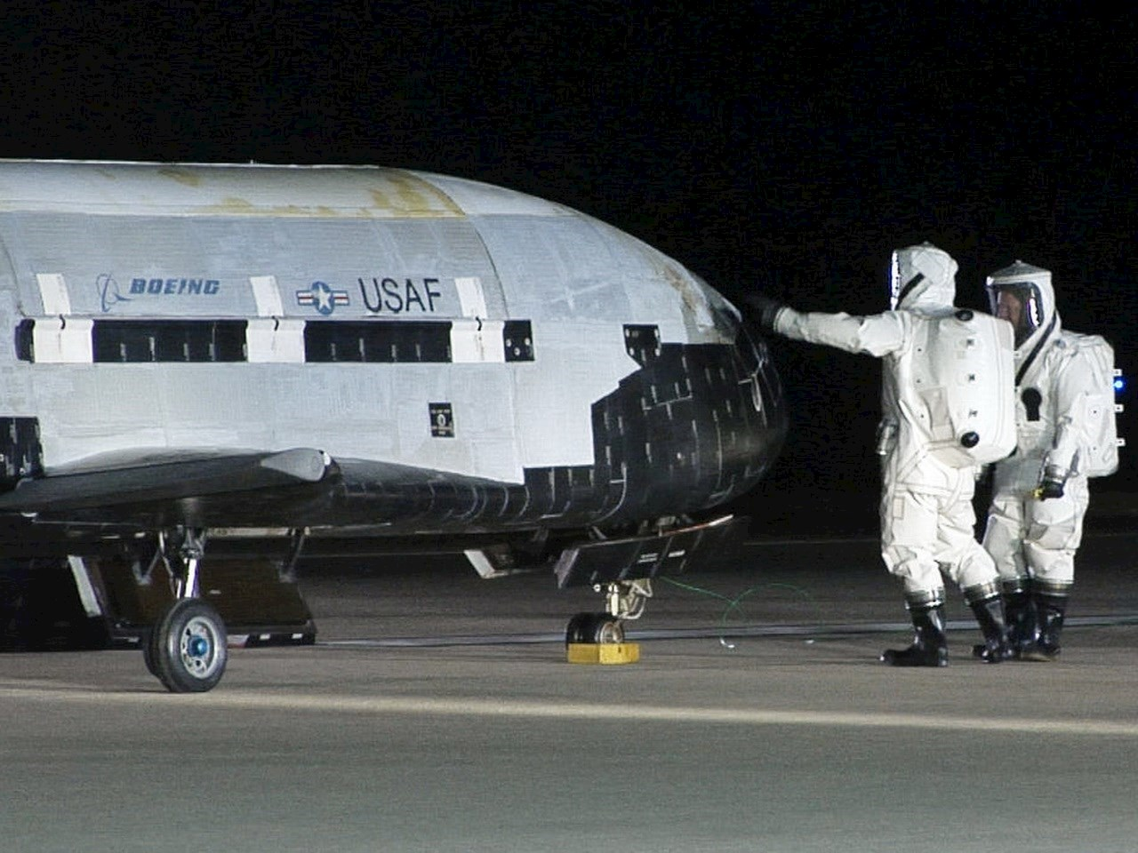X-37B with Air Force crews