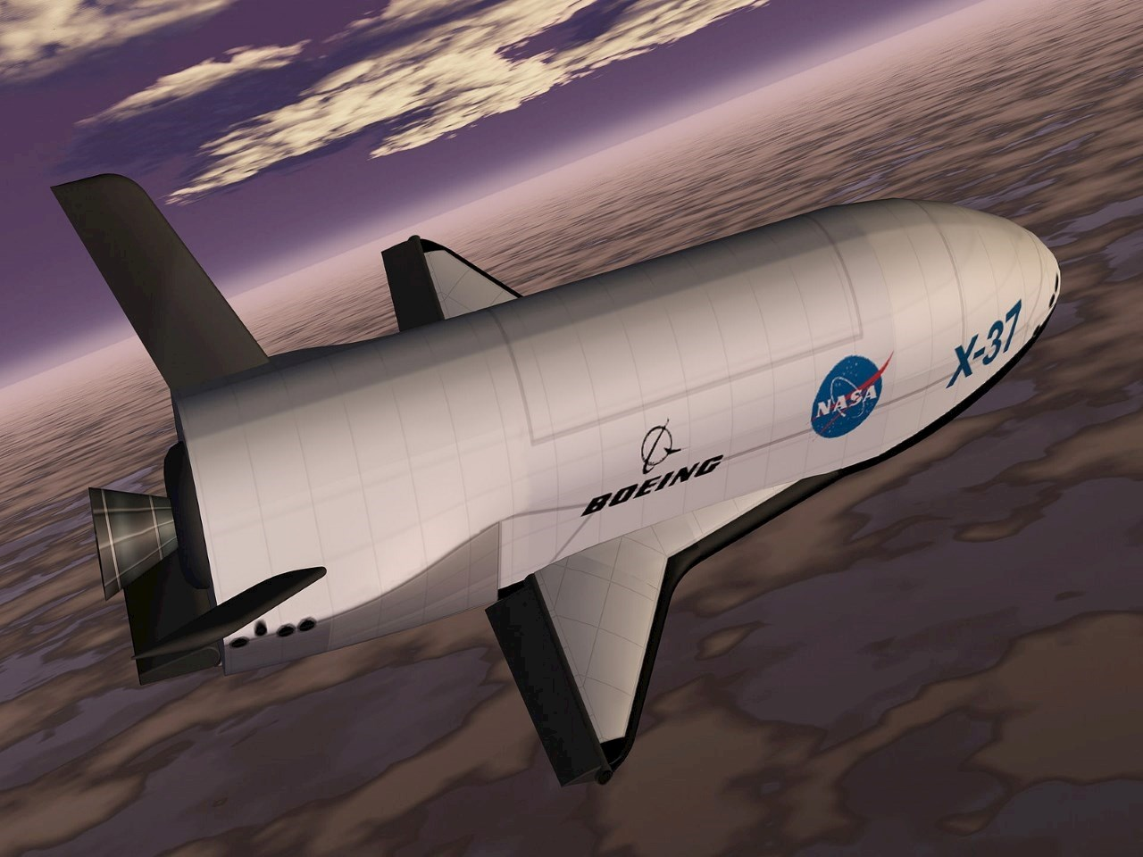 1999 artist's rendering of the X-37 spacecraft