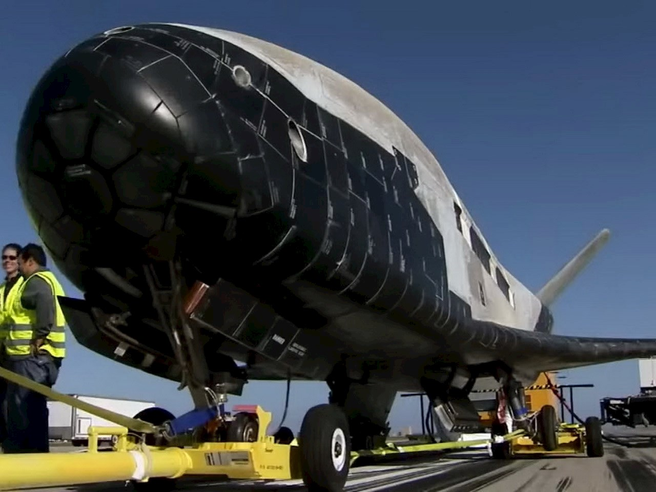 Secret X-37b Spacecraft on the ground
