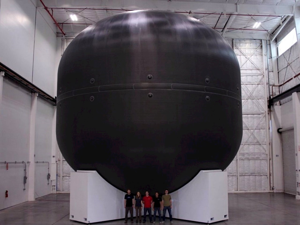 Giant fuel tank for the Mars spaceship