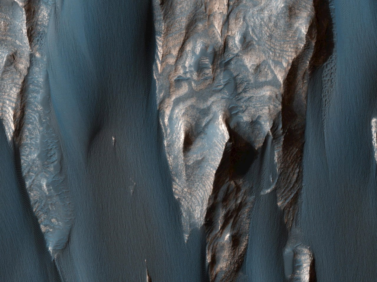 Windblown Sand in Ganges Chasma