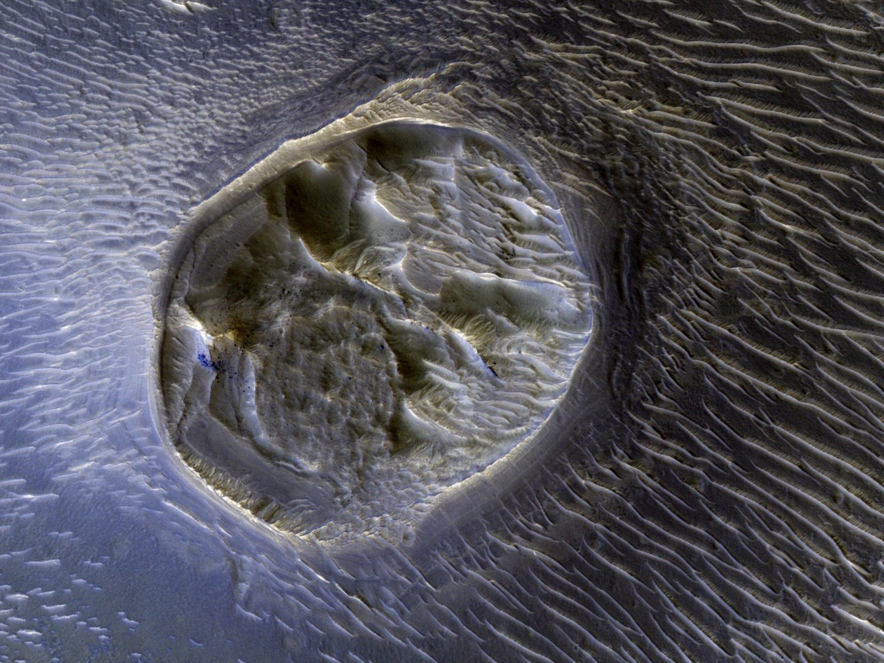A Mesa in Noctis Labyrinthus