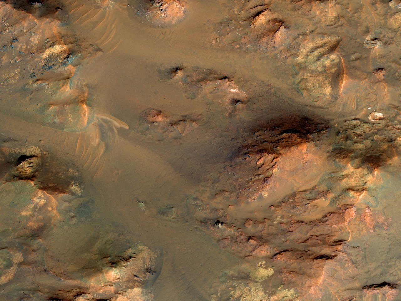 An Oblique View of Uplifted Rocks