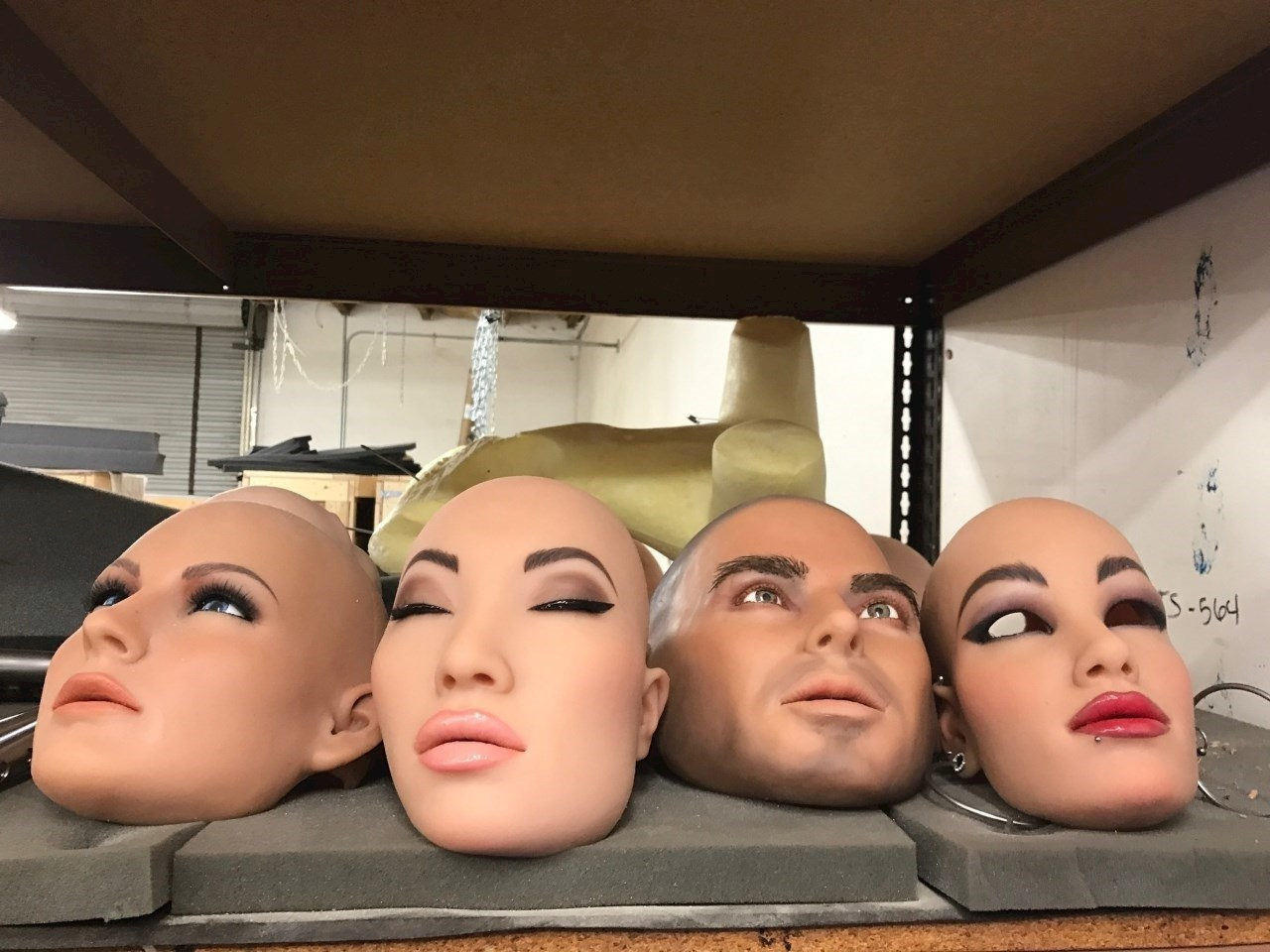 There are all kinds of faces you can choose from for your life-like doll