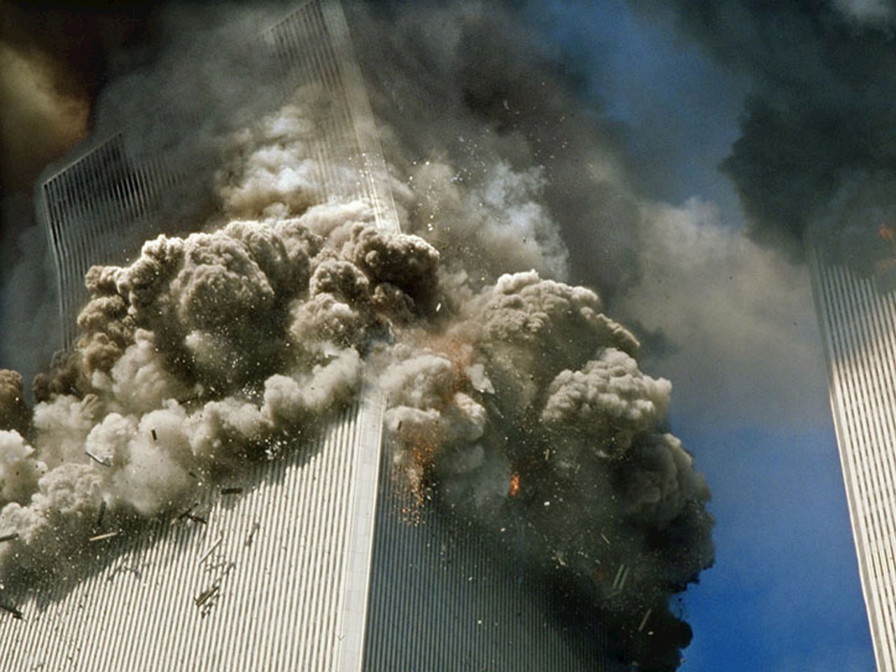 World Trade Center, South tower's collapse on September 11th, 2001