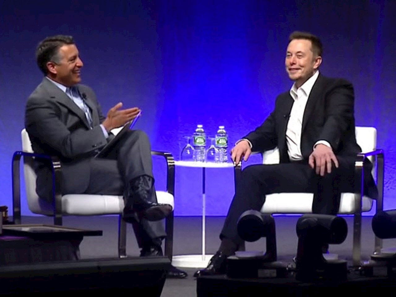Nevada's Governor Brian Sandoval and Elon Musk