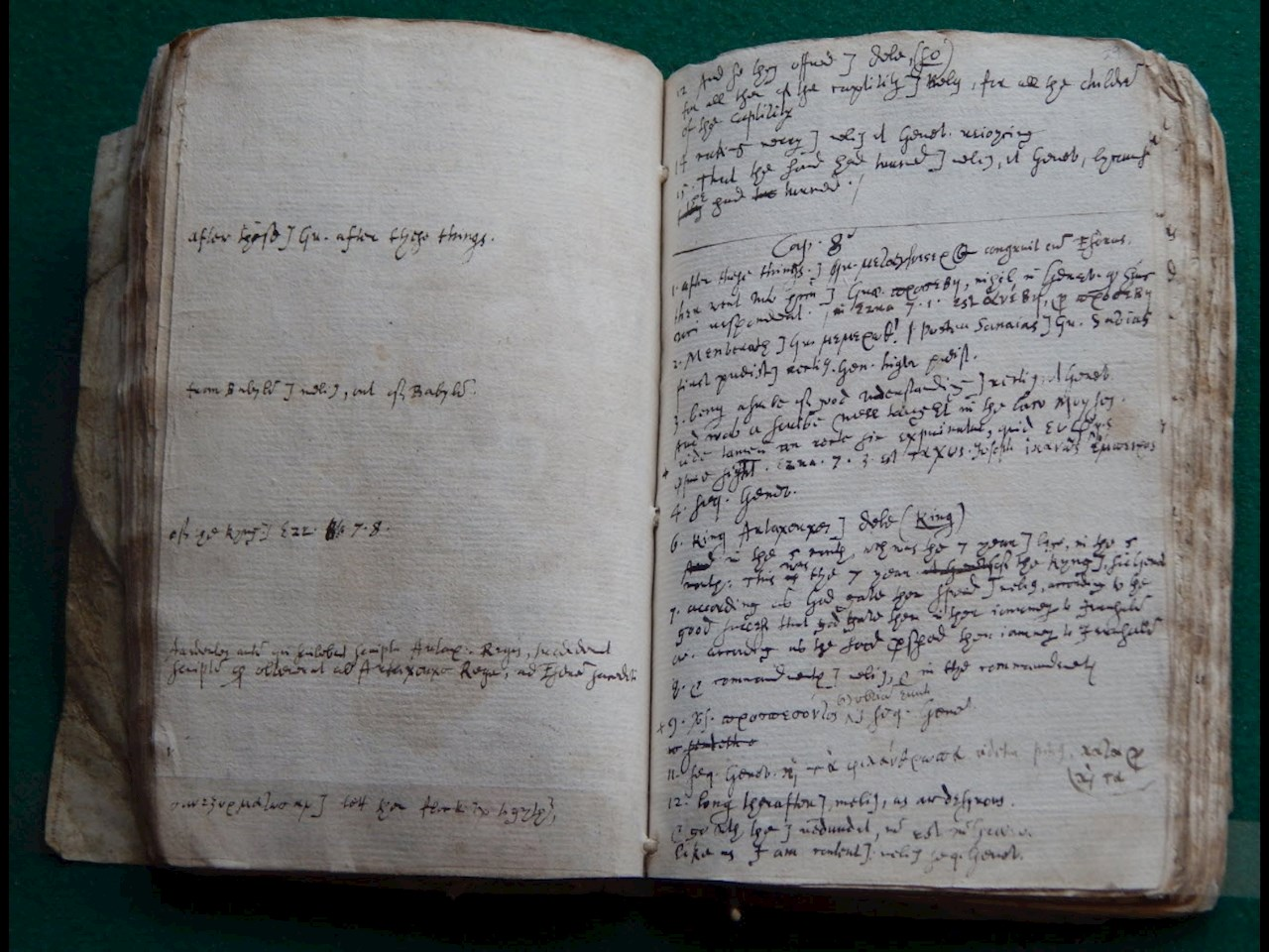 Pages from Samuel Ward's translation for part of the King James Bible
