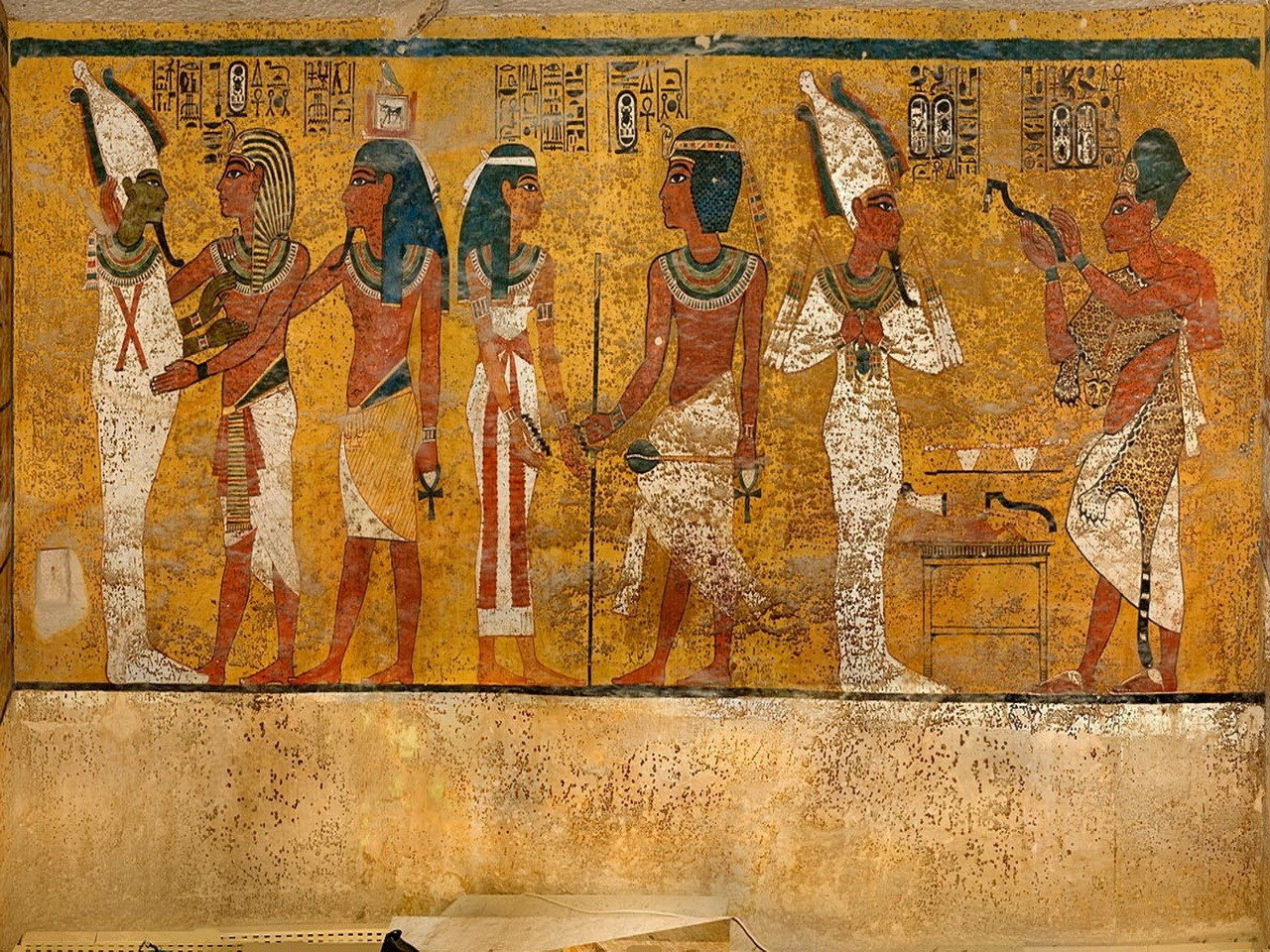 The north wall of the tomb