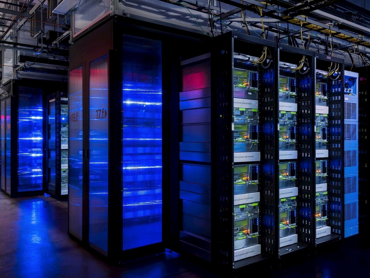 Servers at Facebook's artificial intelligence laboratory