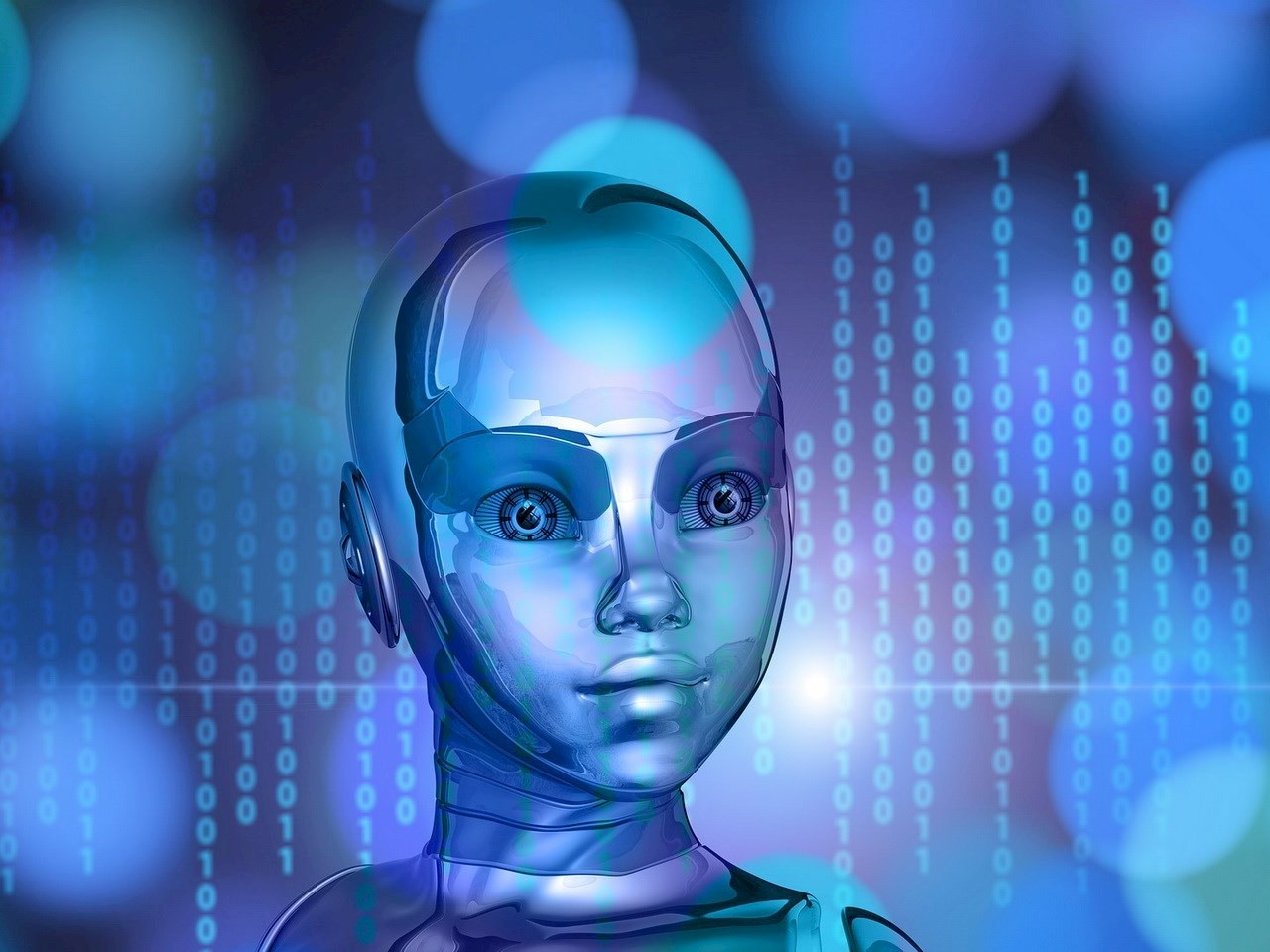 Illustration of a robot with artificial intelligence