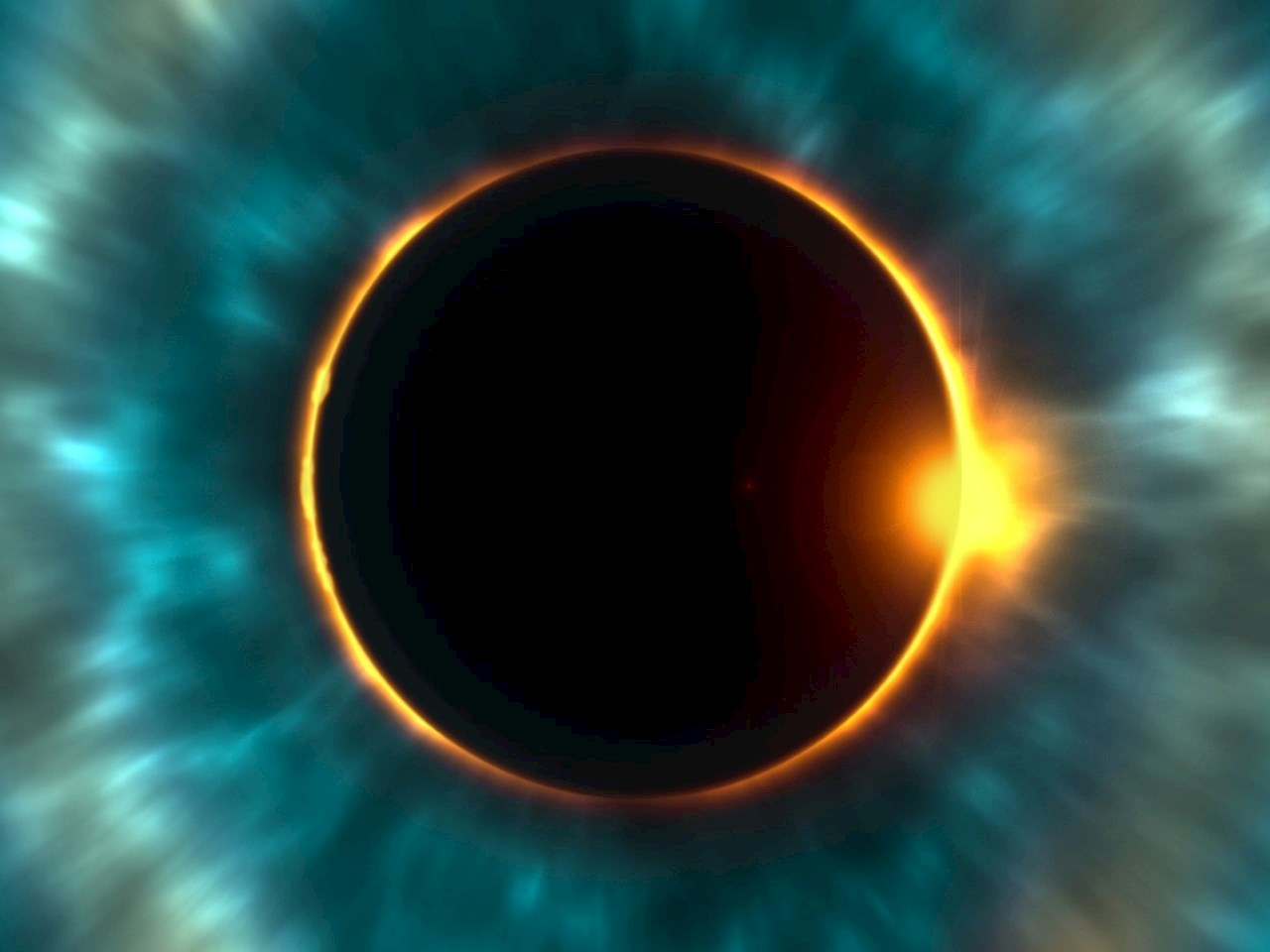 Illustration of a total solar eclipse
