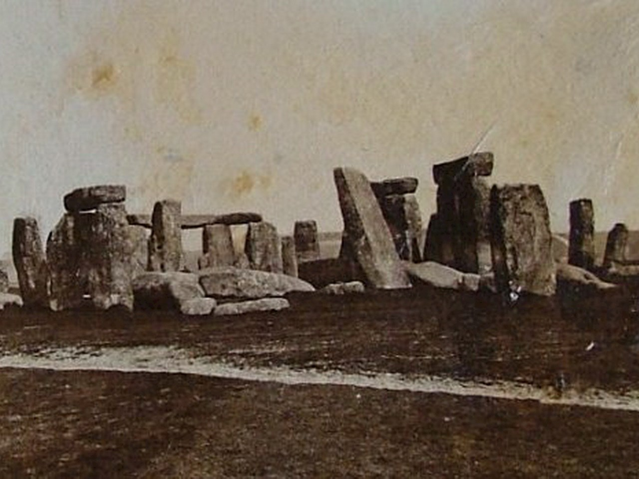An early photograph of Stonehenge