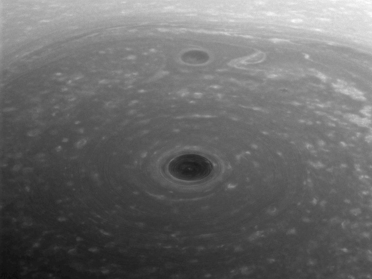 These turbulent clouds are on top of the world at Saturn