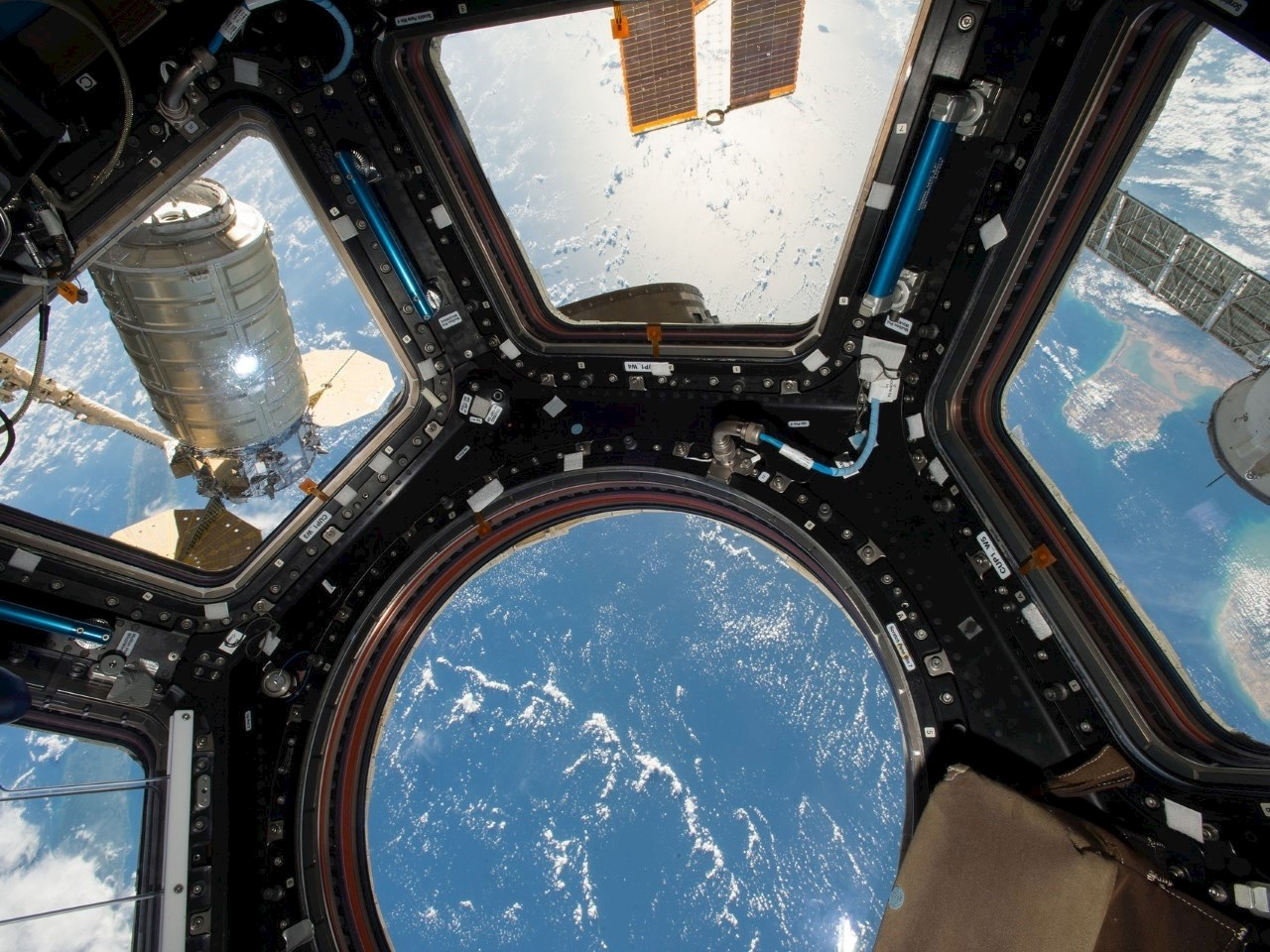 Cygnus Spacecraft Attached to Space Station's Unity Module