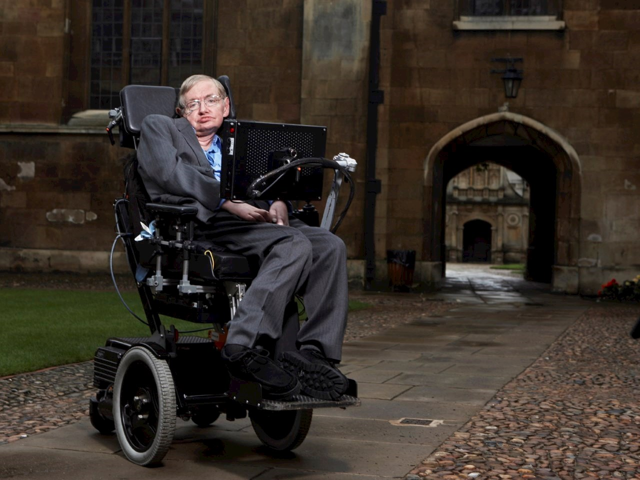 Stephen Hawking at Gonville & Caius College, Cambridge