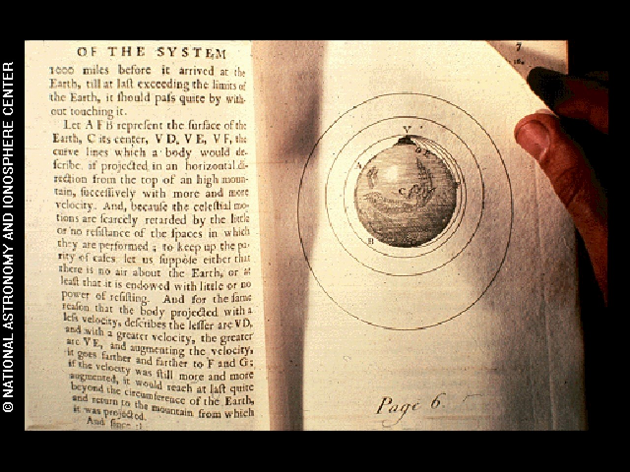 A photograph of page 6 from Isaac Newton's Philosophiae Naturalis Principia Mathematica Volume 3