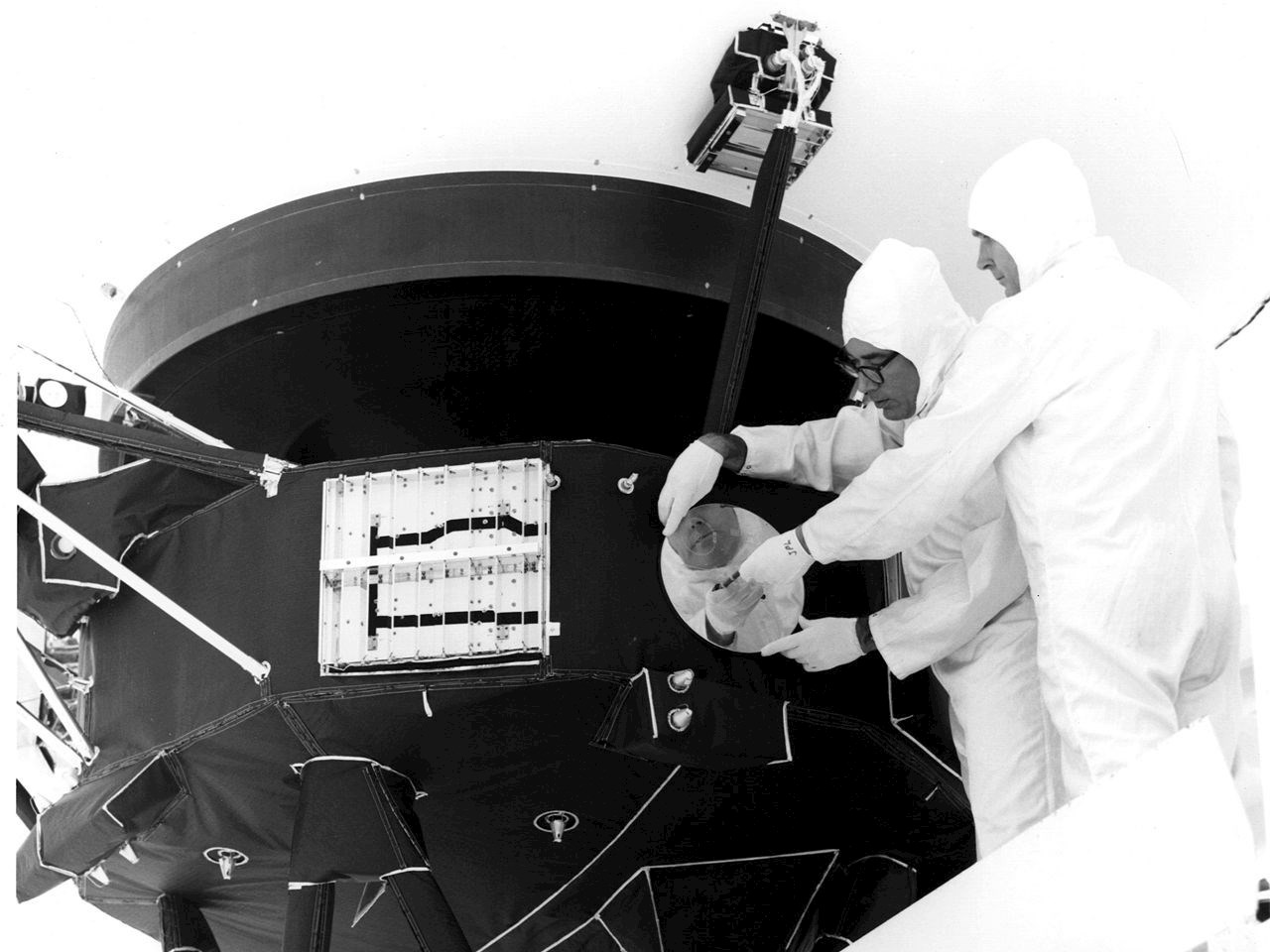 Golden record is attached to the spacecraft