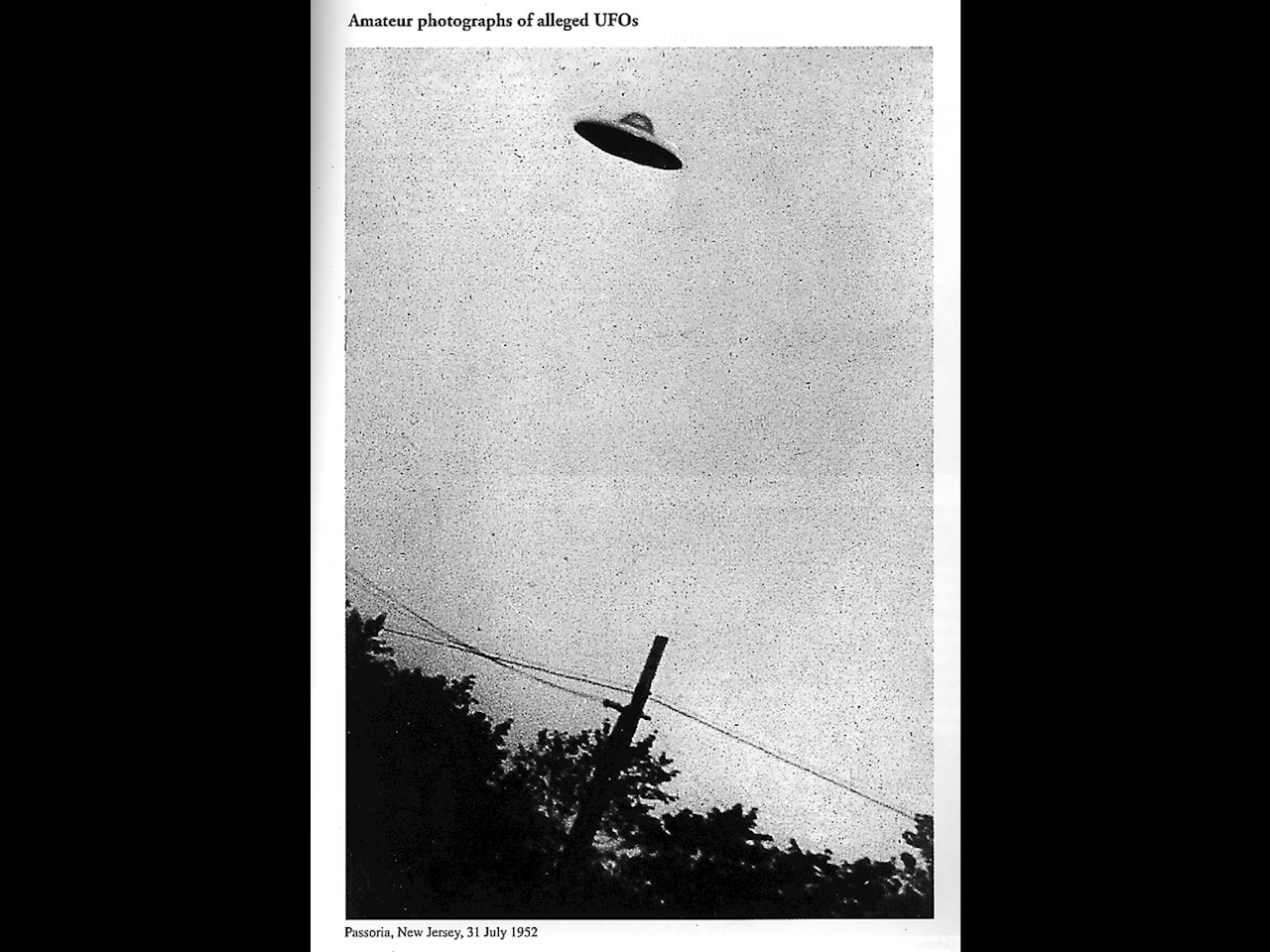Amature photographs of alleged UFOs