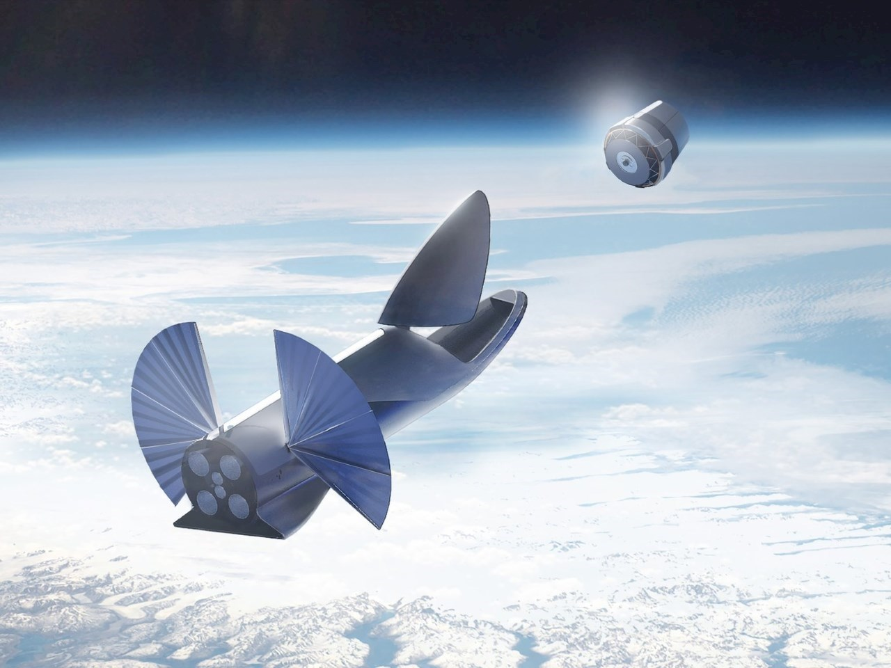 Capable of transporting satellites to orbit