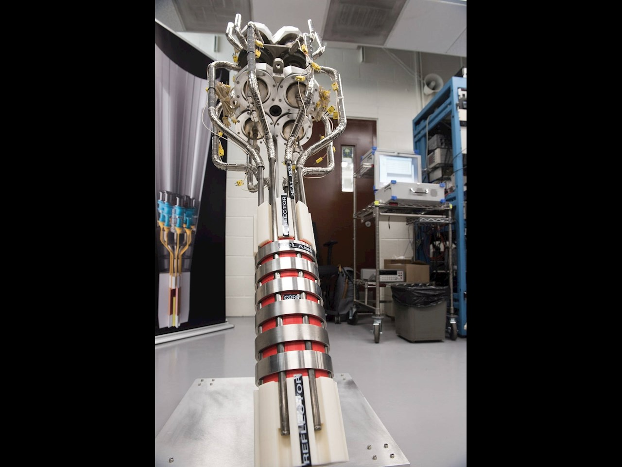 A power system prototype on display in the Stirling Research Lab on May 2, 2018